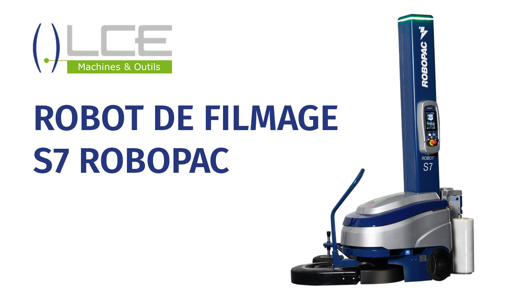 Robot filmage/banderolage de palettes Robopac S7