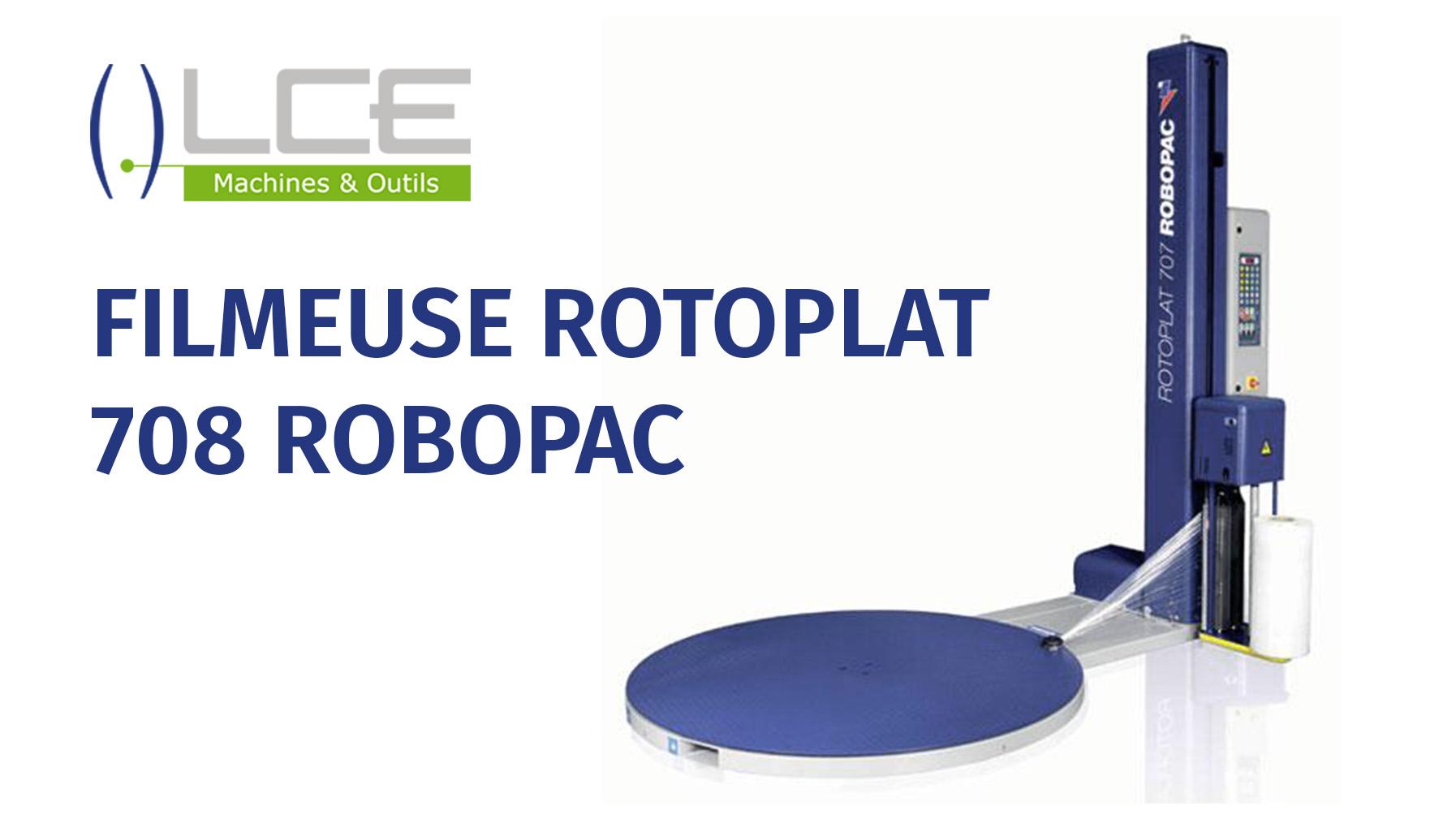 ROTOPLAT 708 PVS – Filmeuse automatique ROBOPAC